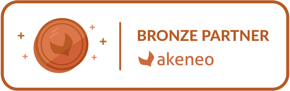 Akeneo Badge Partner Bronze Horizontal 2